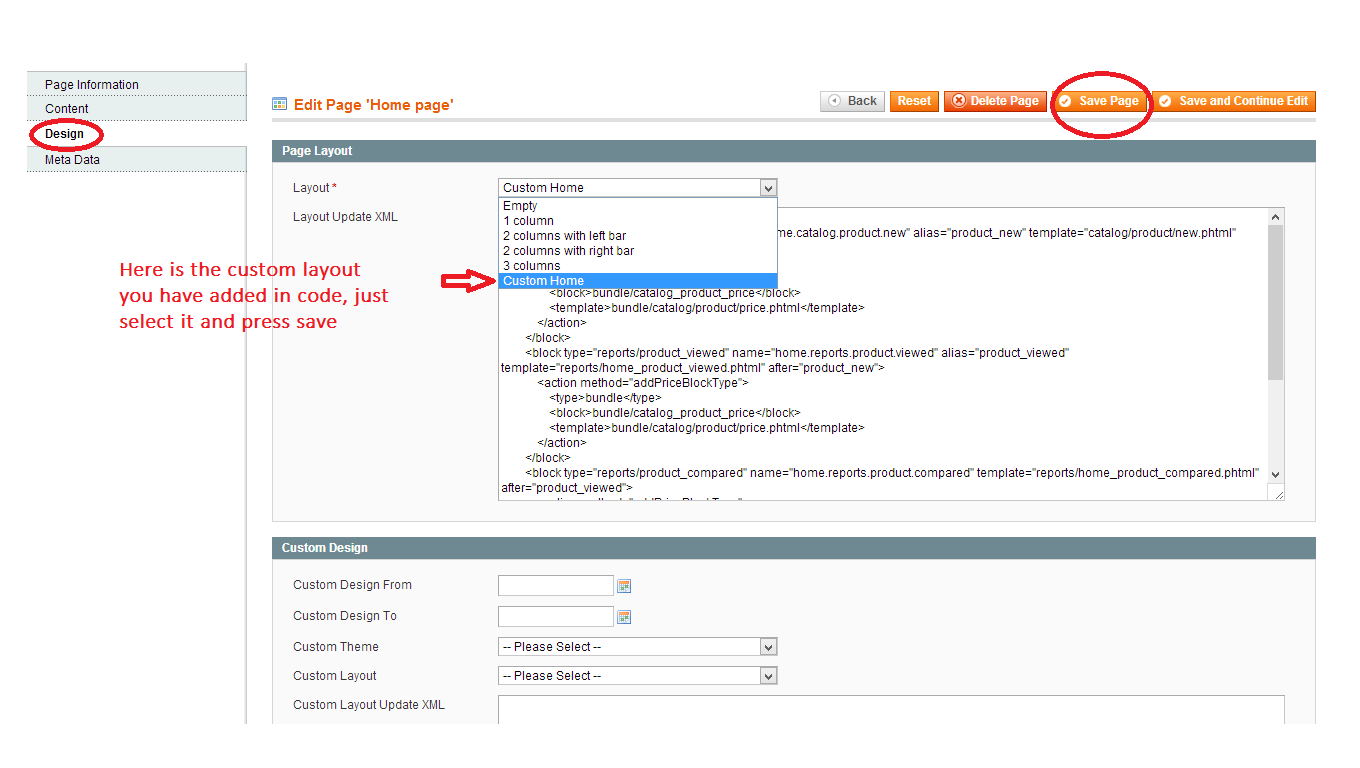 How To Add Custom Layout Column in Magento