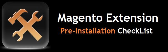 Magento Extension Pre-installation