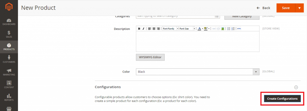 Create Product Configurations 2