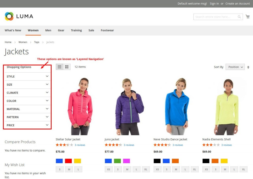 Layered Navigation in Magento 2.0