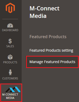 Manage Feature Products