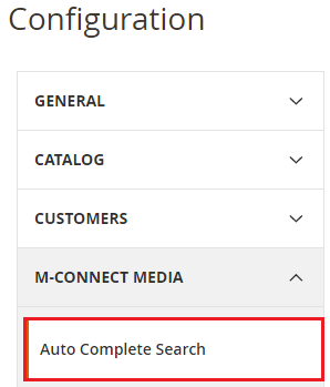 Auto Complete Search Configuration