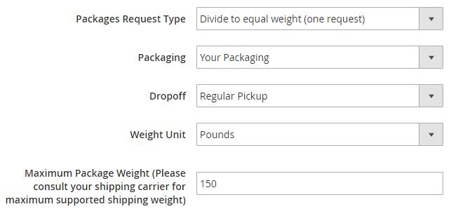 Configure Packaging Description