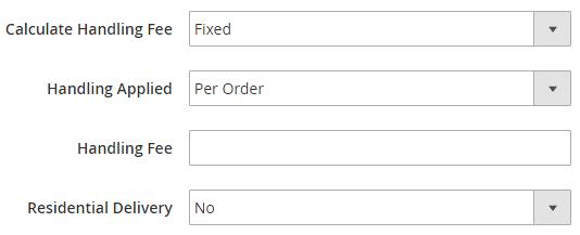 Specify Handing Fees