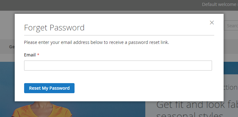 Forget Password Popup