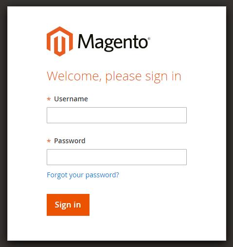 Login Magento Admin Panel