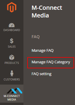Manage FAQ Category
