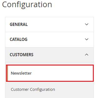 Configure Newsletter
