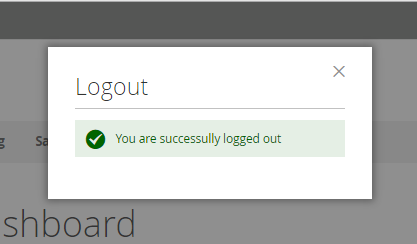 Successfully Logout Process