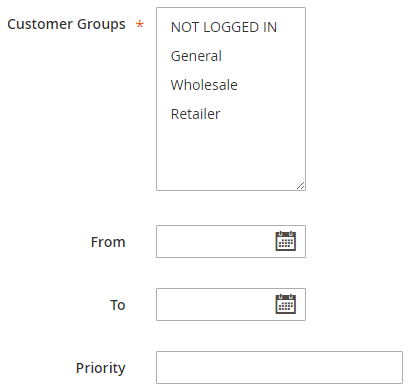 Catalog Customer Groups