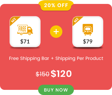 Free Shipping Bar and Flat Rate Shipping per Product