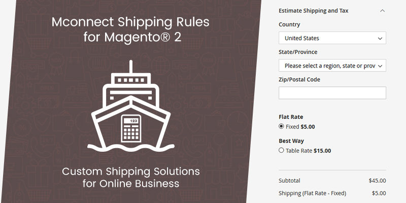 Mconnect shipping rule Extension for Magento 2
