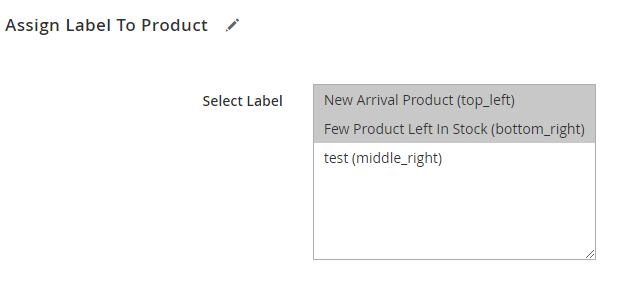 Assign Label to Product