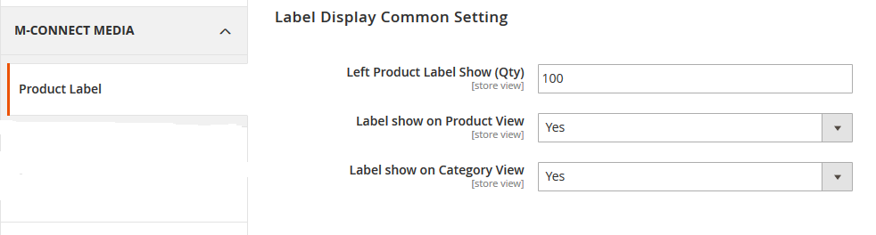 Label Display Settings
