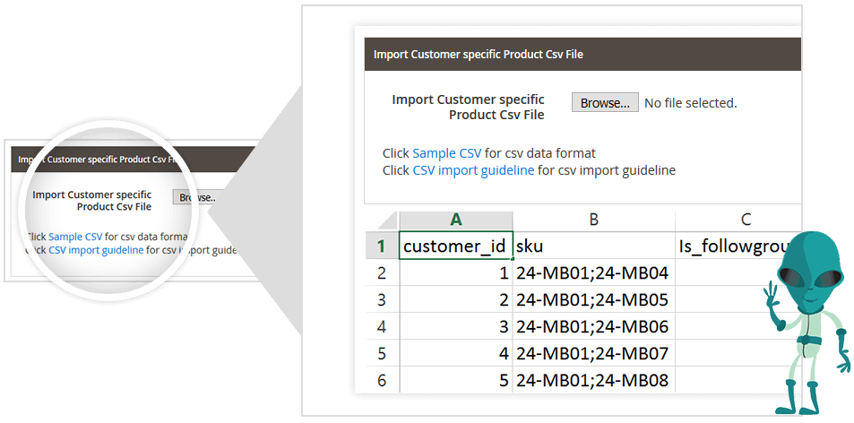 csv pricing extension