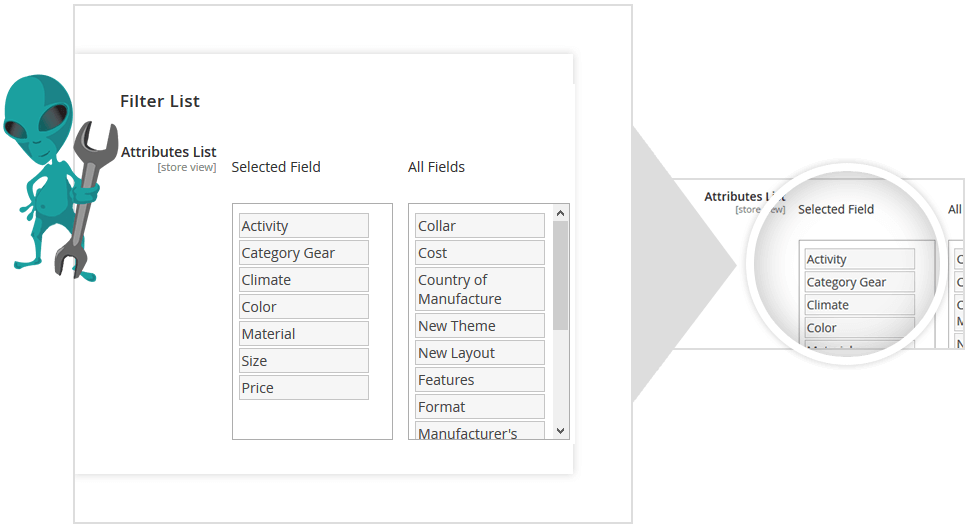 magento add filter to category page