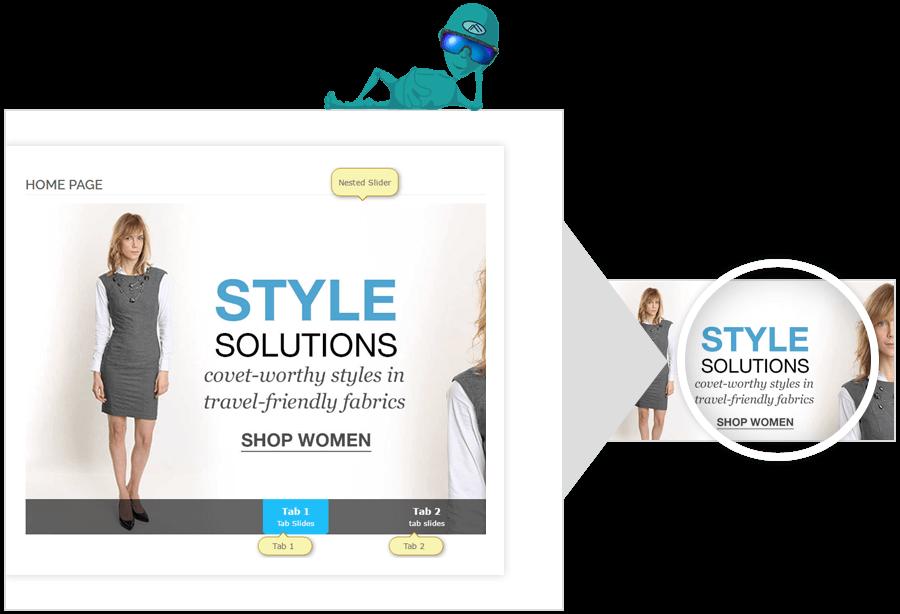 online shopping slider images