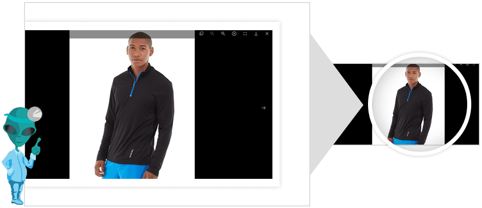 product image zoom hover