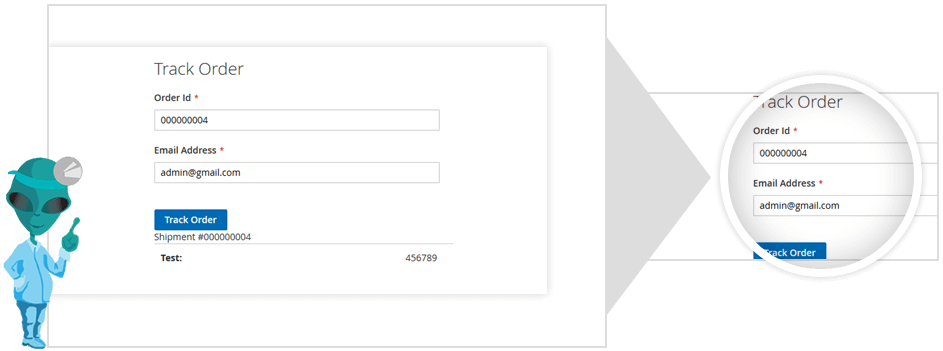 magento track order without login